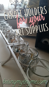 Candleholders For Art Supplies