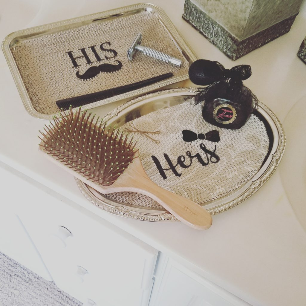 His And Hers Feminine And Masculine Bedrooms That Make A: His & Hers Accessory Tray Project